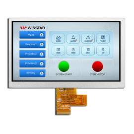 "WINSTAR WF70A8SYAHLNN0, 7,0"" LVDS TFT, 1024x600"